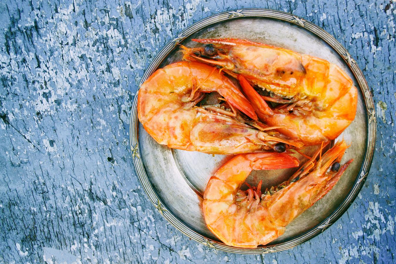 Frutos do mar: camarão