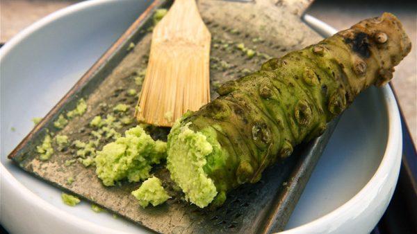 Wasabi, comum na culinária japonesa, não agrada todos os paladares