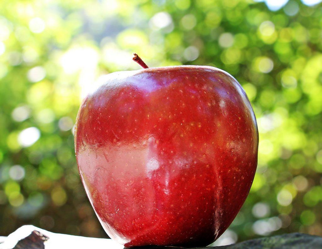 maçã argetina tem coloração vermelha brilhante