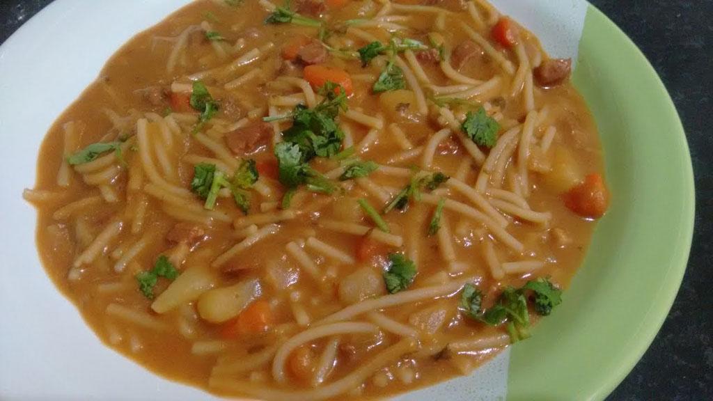 como fazer sopa de feijão