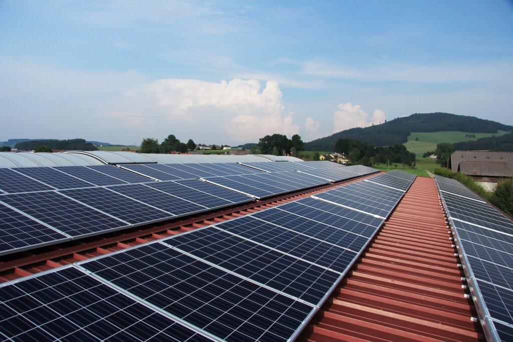 Painel de energia solar, que também é apresentado na Ecoenergy