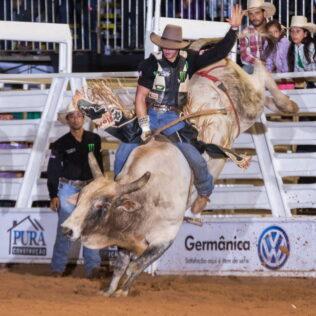 Montaria em touros é modalidade que exige preparação especial